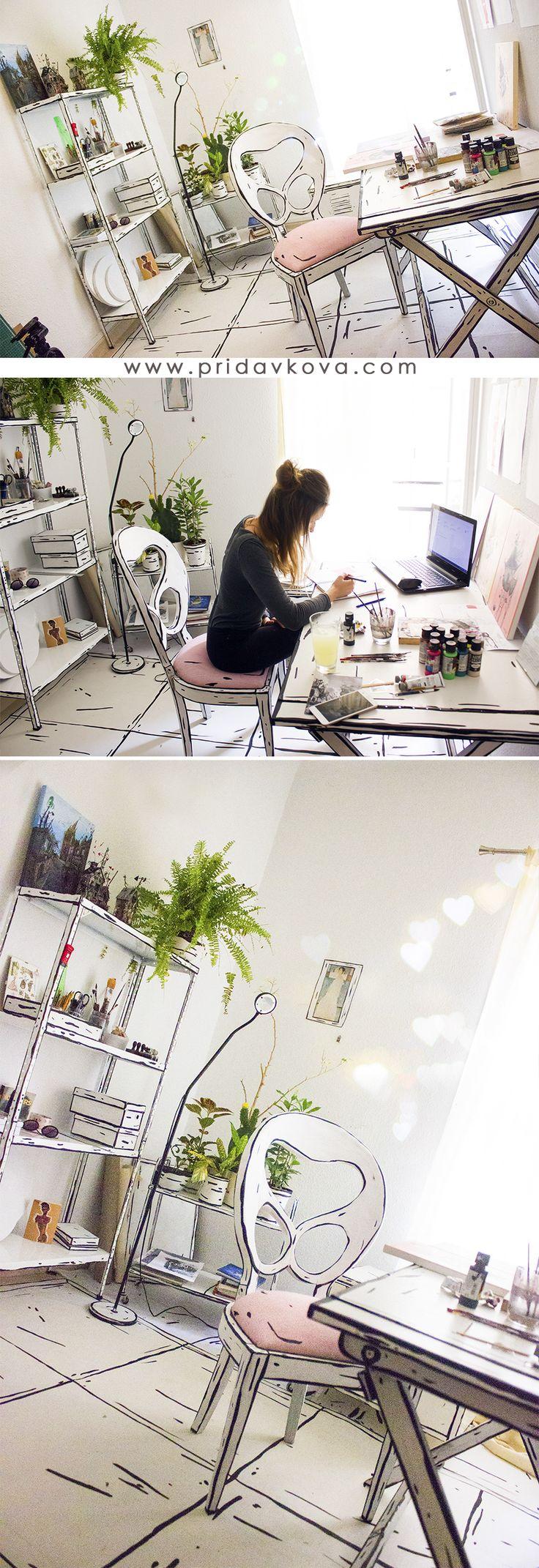 Welcome in my doodle artstudio :)  #katarinapridavkova #artstudio #creativedesign #doodlestudio #interiordesign