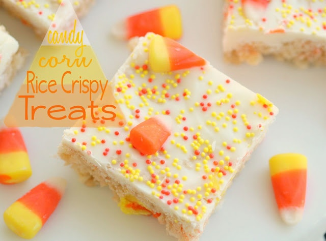 Half Baked: Candy Corn Rice Crispy Treats if my rice crispy treat cravings are still around by halloween