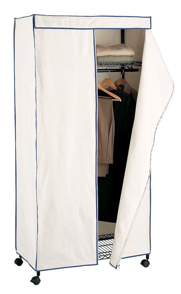 new portable storage wardrobe closet fabric cover bedroom organizer clothes rack