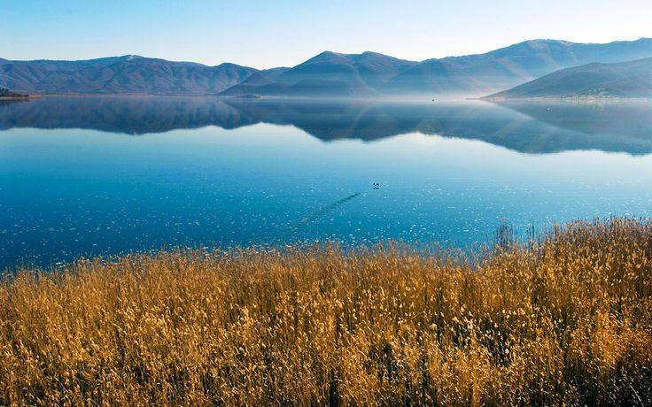 Big Prespa -  the Prespa National Park is one of the most important ecosystems in Greece. A boat ride on Great Prespa Lake is definitely a highlight: 22% of the expanse belongs to Greece, 60% to FYROM and 18% to Albania. Boats set sail from Psarades, the only Greek village on the lake. Tours take from 20 minutes to an hour and are conducted by the boatmen themselves. You can see the religious paintings on isolated rocks marking the old retreats of hermits.