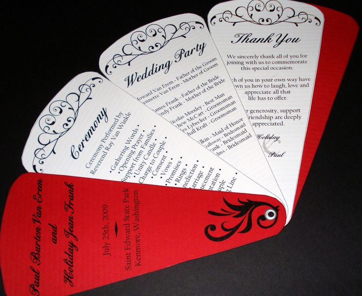 The 25 Best Fan Wedding Programs Ideas On Pinterest