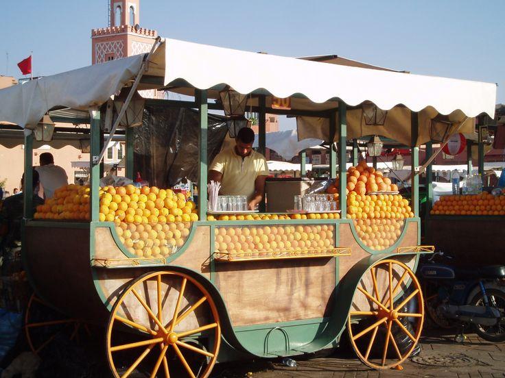 Marrakech et son jus d'orange, ©DamienVidal www.damien-vidal.com