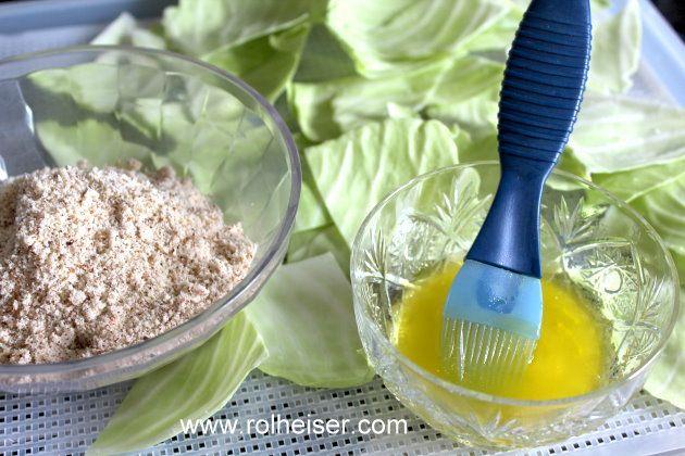Приготовление капустных чипсов с сыром, фото