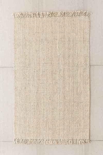 Chunky Fringe Woven Jute Rug - Urban Outfitters | 9x12 | $689