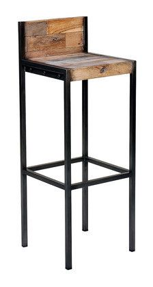Loft Industrial Bar Stool With Backrest