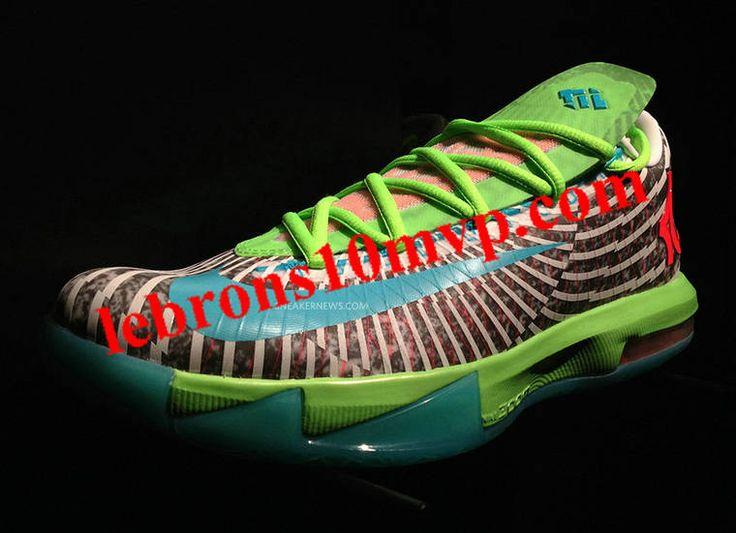 Nike KD VI DC Preheat Gamma Blue Dusty Grey Flash Lime 618216 400