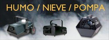 Ver catálogo Maquinas humo, nieve y pompas!