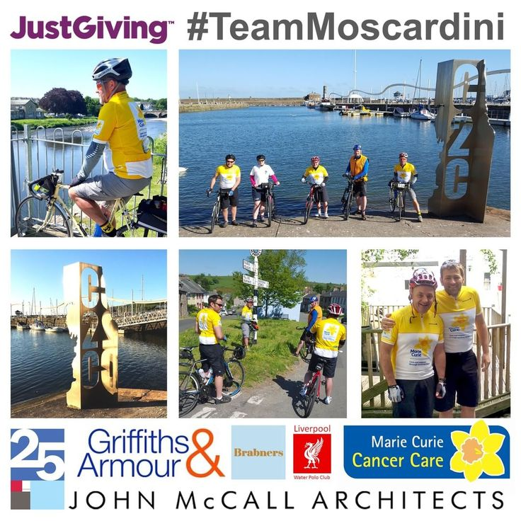 #TeamMoscardini complete their charity bike ride - John McCall Architects
