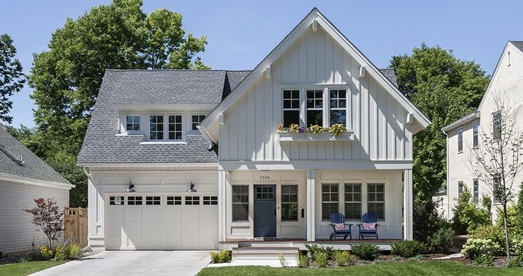 Cottages new construction and cottage style on pinterest for Cottage style homes exteriors
