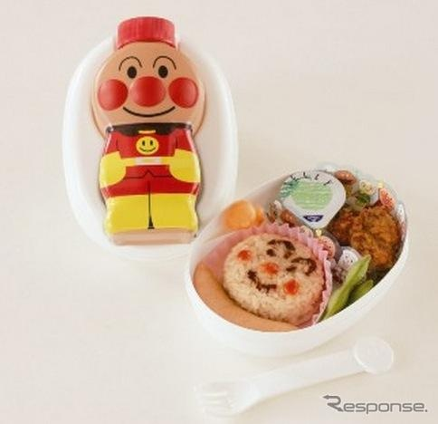 This Anpanman bento (he's in the bento as well as on the box lid) was selected as one of the top 10 ekiben (station bentos)  It's available at Takamatsu station and costs 1100 yen (about US $12/9 euros).