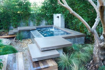 plunge Pool Designs | cool steps up to plunge pool""