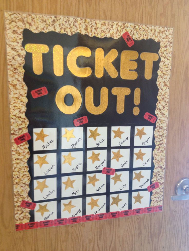 A ticket out the door. Movie style! | Good Teaching ...