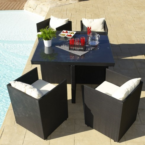 salon de jardin encastrable 4 places. Black Bedroom Furniture Sets. Home Design Ideas