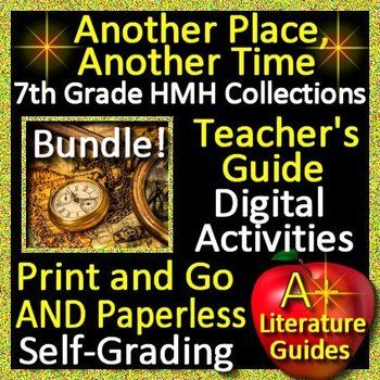 This is a teaching unit BUNDLE for Another Place, Another Time by Cory Doctorow. It can be used with or without the 7th Grade HMH Collections Textbook by Houghton Mifflin Harcourt. It contains a PowerPoint Introduction to the unit, a Teacher's Guide with comprehension questions and a self-grading test, and a PowerPoint Review Game to prepare for
