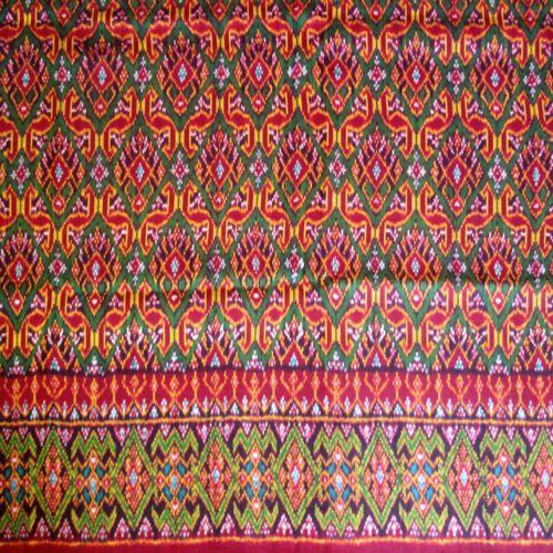 Beautiful Hand woven Silk Thai-Cambodian Ikat Textile