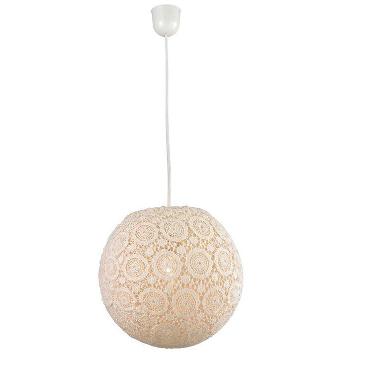 Moderne Pendelleuchte - Lampenschirm aus Textil - Für Leuchtmittel E27  60 Watt