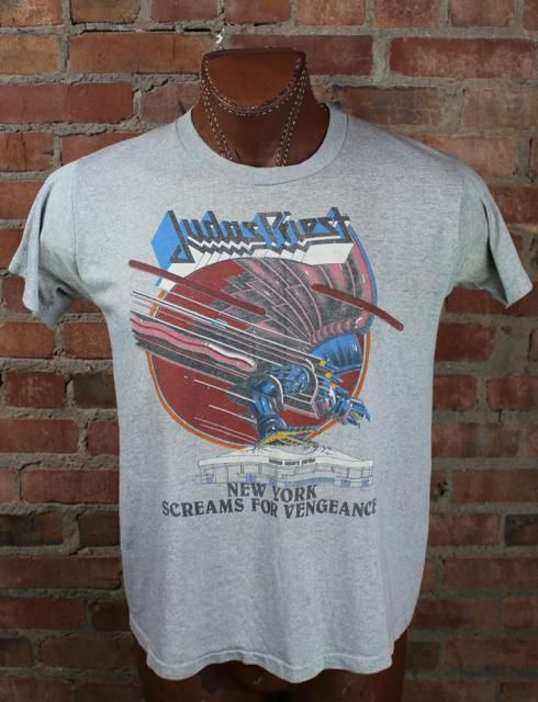 Vintage Judas Priest 1982 New York Screams For Vengeance Concert T Shirt Large