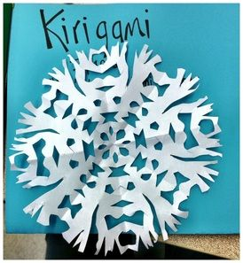kirigami- folding, cutting, symmetry; will make next year for lion, witch, and the wardrobe!