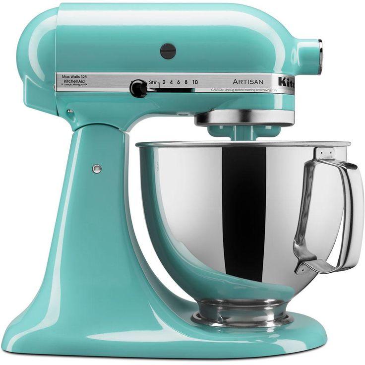 Kitchenaid artisan 5 qt tilthead aqua sky stand mixer