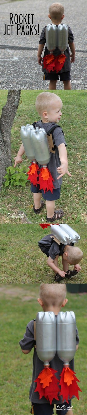 Rocket Jet Pack craft for kids!  Great for little imaginations, space birthday parties or play dates! #space_crafts_for_babies