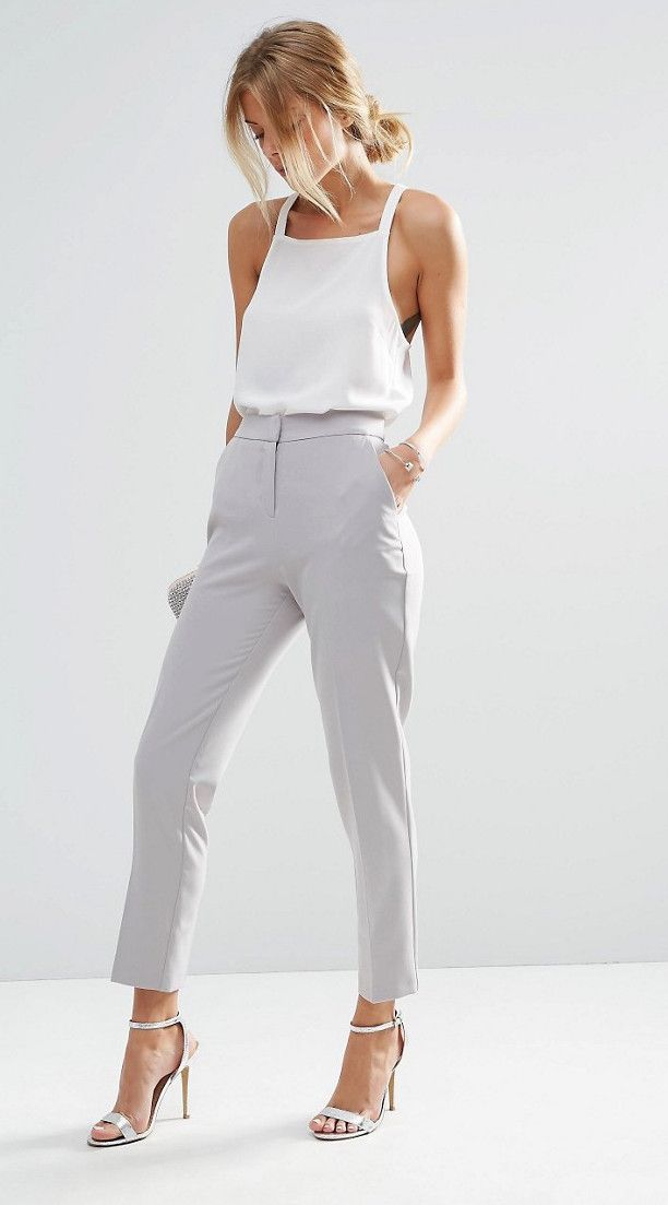 ASOS Premium Clean Tailored Trousers
