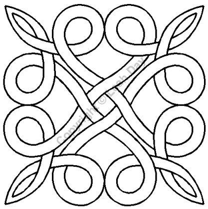 """Quilting Stencils > Misc Block - Item: 7.5"""" on QuiltingCreations.com"""