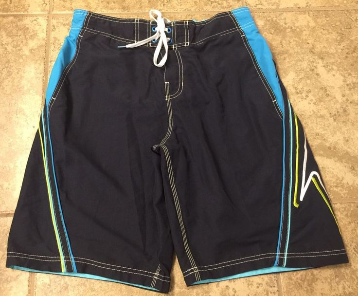 Speedo Men's Sz Medium Blue Swim Trunks Shorts #Speedo #Trunks