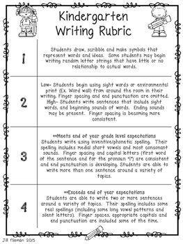 Vcop writing assessment kindergarten