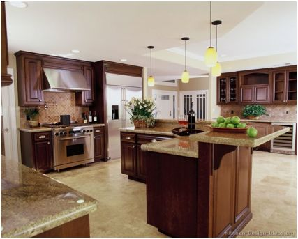 Kitchen Ideas Brown Cabinets 90 best cherry color kitchens images on pinterest | pictures of