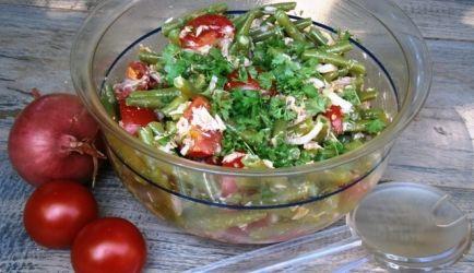 Sperziebonen Salade Met Tonijn En Tomaatjes recept | Smulweb.nl