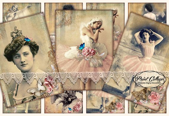 Balerina Ballet images Printable Designed Gift by PrintCollage