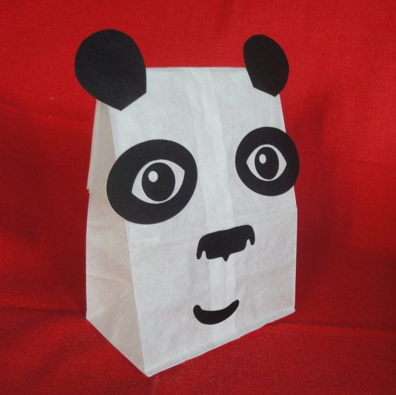 Panda Birthday Party Treat Sacks Jungle Kung Fu Asian Zoo Theme Goody Bags by jettabees on Etsy via Etsy