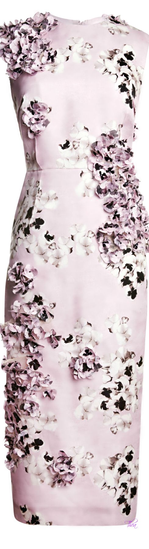Most of the time, I hate flowers on dresses but this one... <3 Giambattista Valli ● SS 2014