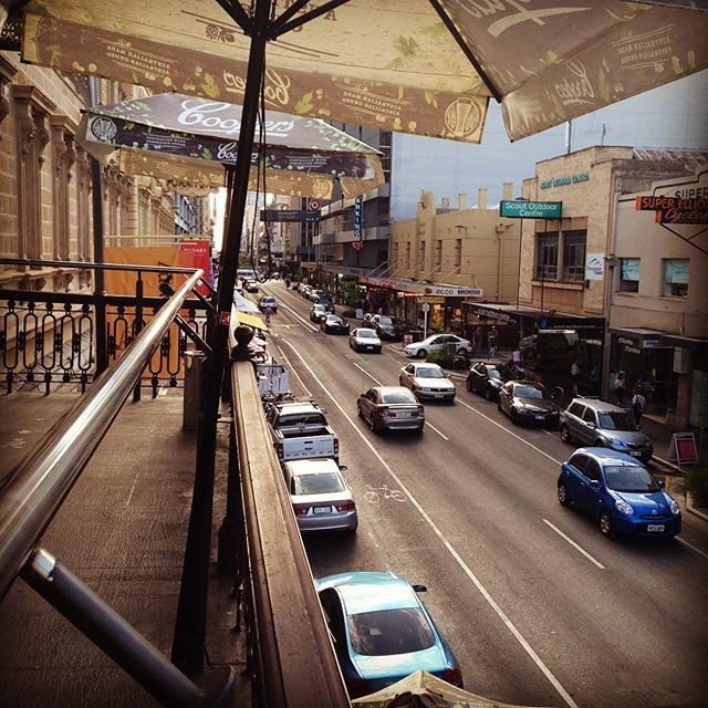 """Rundle St from the balcony of The Austral, Adelaide! #ThisIsSouthAustralia #RundleSt #TheAustral #Beers #Travel #Adelaide #ljojlo"" Photo taken by @ljojlo_trvlblog on Instagram, pinned via the InstaPin iOS App! http://www.instapinapp.com (10/10/2015)"