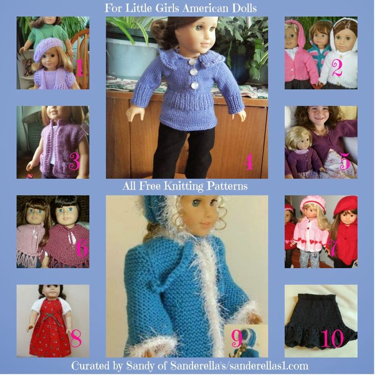 *American girl dolls free knitting patterns*