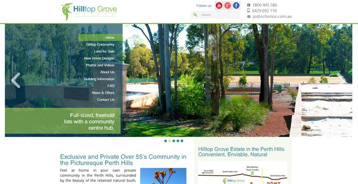 Exclusive and Private Over 55's Community in the Picturesque Perth Hills -  Hilltop Grove Estate in the beautiful township of Mundaring is your exclusive Over 55's Community in the Perth Hills.