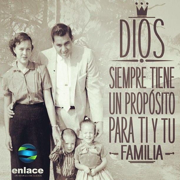 DIOS  siempre tiene un proposito para TI y TU familia #fb  ♥♥♥♥