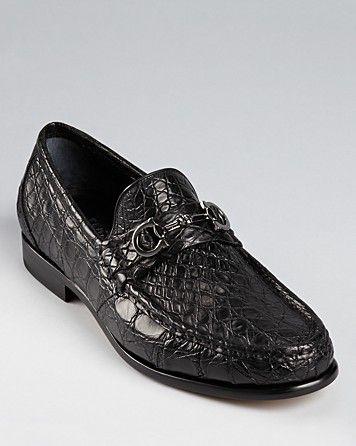 Salvatore Ferragamo Giostra Crocodile Dress Loafers   Bloomingdale's