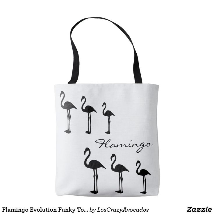 Flamingo Evolution Funky Tote Bag