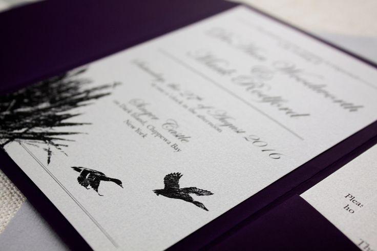 duck themed wedding stationary nz http://bemyguest.co.nz/archives/item/darling-ducks-purple-pocketfold-wedding-invitation/