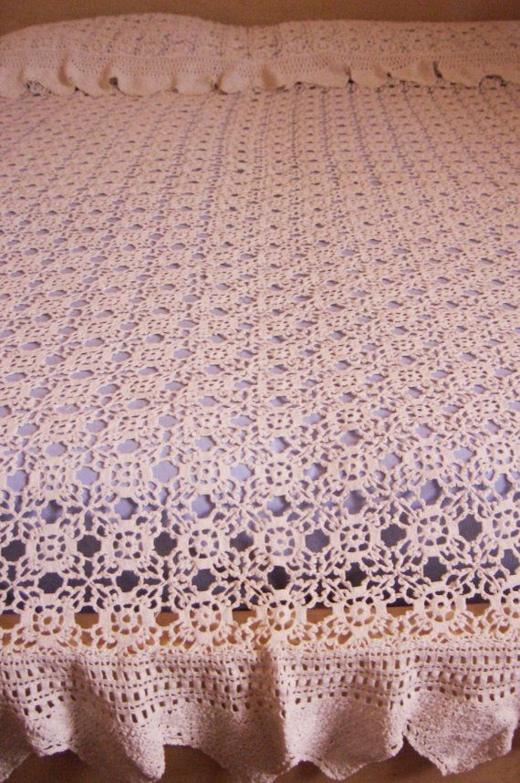 Crochet Patterns Queen Size Bed : ... love the crochet looks great as lace crochet flower motifs see more