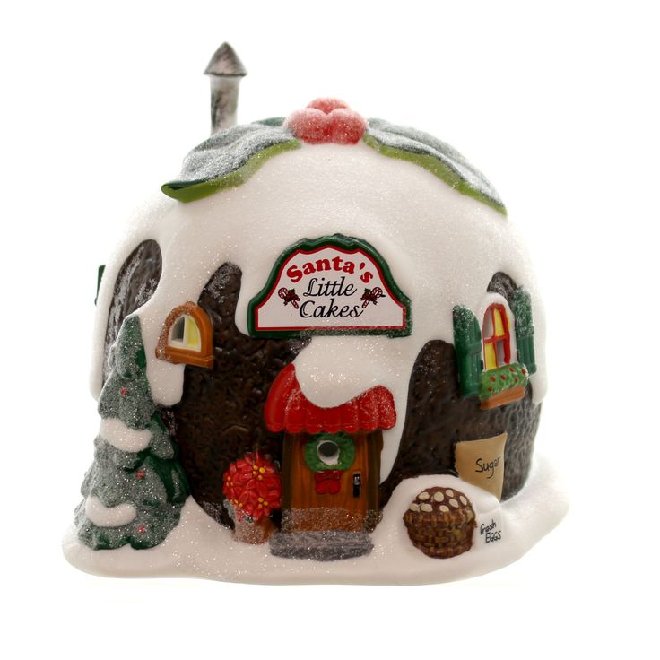 Department 56 House Santa's Little Cakes Village Lighted Building