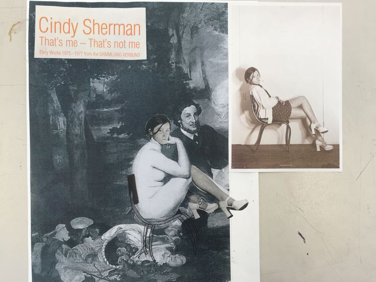 Inspired of Cindy Sherman's photograph/collage with famous painting