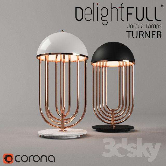 3d models: Table lamp - TURNER