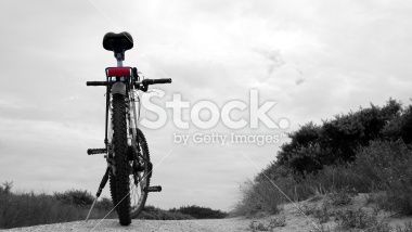 Bicycle in the dune area in Holland Royalty Free Stock Photo