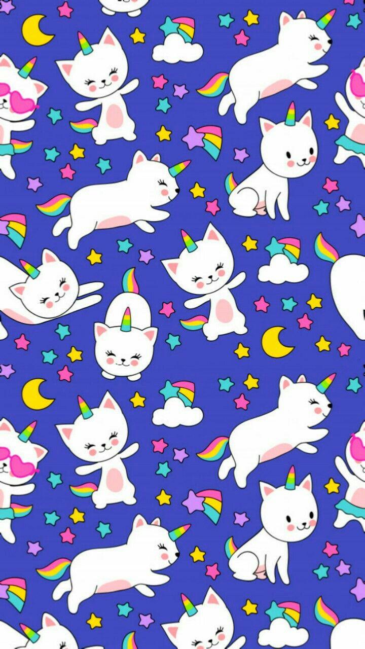 Wallpaper Unicorn Cat Caticorn Iphone Wallpaper Kawaii Unicorn Wallpaper Cute Wallpapers