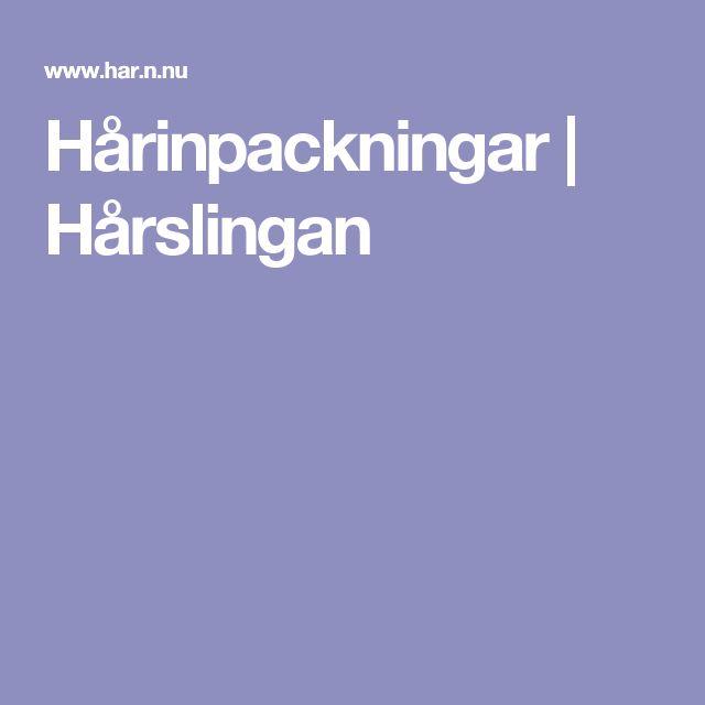 Hårinpackningar | Hårslingan