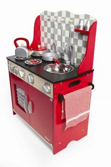 I love the fact that this is bright red! A vibrant childrens kitchen x