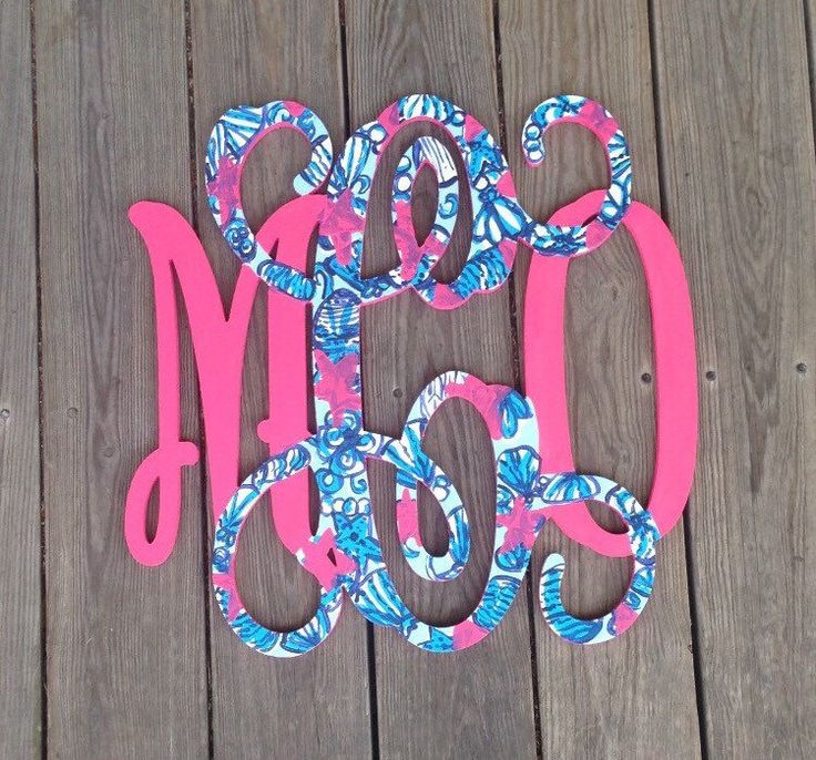 Lilly Pulitzer Inspired Wooden Monogram, Nursery Monogram, Lilly Pulitzer Letters, Lilly Monogram, Dorm Decor, Door Wreath by PaintedCarnation on Etsy https://www.etsy.com/listing/231025228/lilly-pulitzer-inspired-wooden-monogram