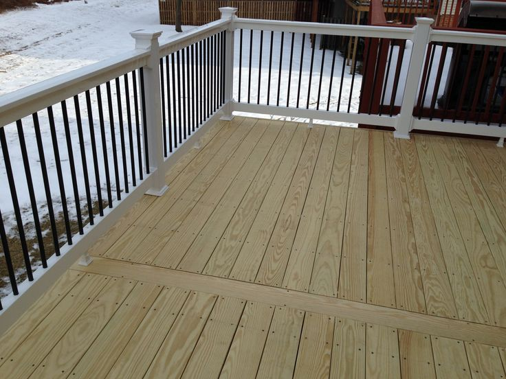 Exterior Deck Boards : Kdat wood deck w feature board in the center